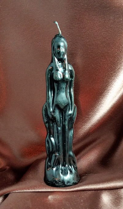 Female Figural Candle (black)