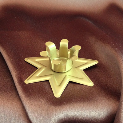 Brass Star-Shaped Candle Holder (offertory size)
