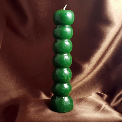 Green 7 knob candle