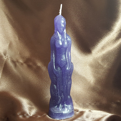 Female Figural Candle (Purple)