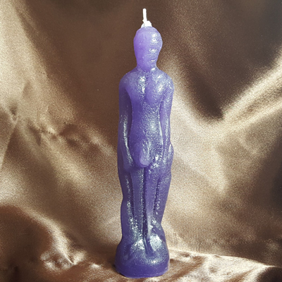 Male Figural Candle (Purple)