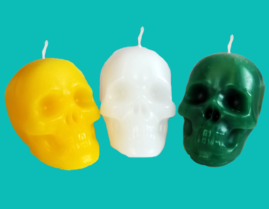 "Small Skull Candle (2"")"