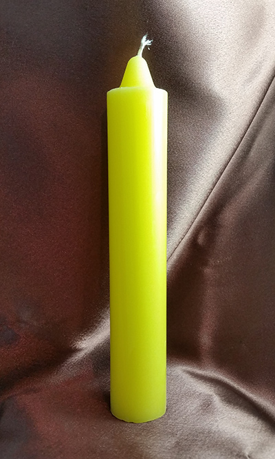 Yellow Hoodoo Rootwork Jumbo Candle (9 inches)