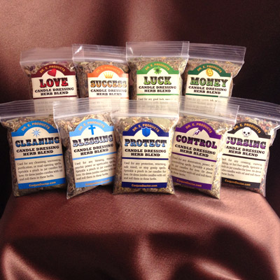 Candle Dressing Herb Blends Kit - Click Image to Close