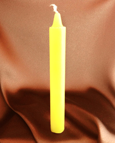 Yellow Offertory Candle (6 inches)