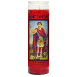Saint Expedite Candle - Setting of Lights
